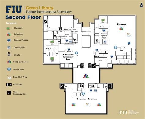 floor plan of library library floorplans fiu libraries