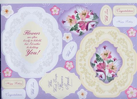Kanban Paper Craft Toppers - kanban floral gifts toppers with vellum