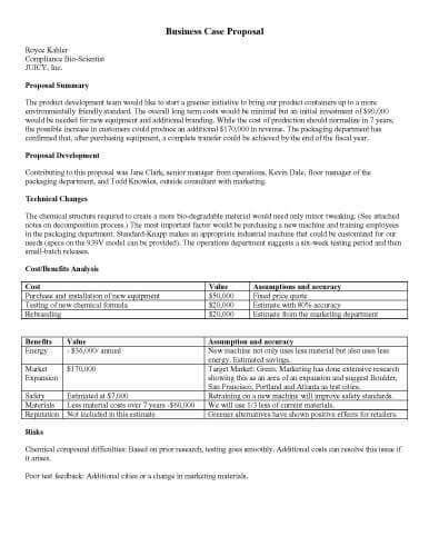 32 Sle Proposal Templates In Microsoft Word Business Bid Template