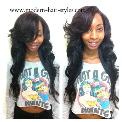 Sew In Hairstyles With Side Bangs by Sew In Hairstyles With Side Bangs