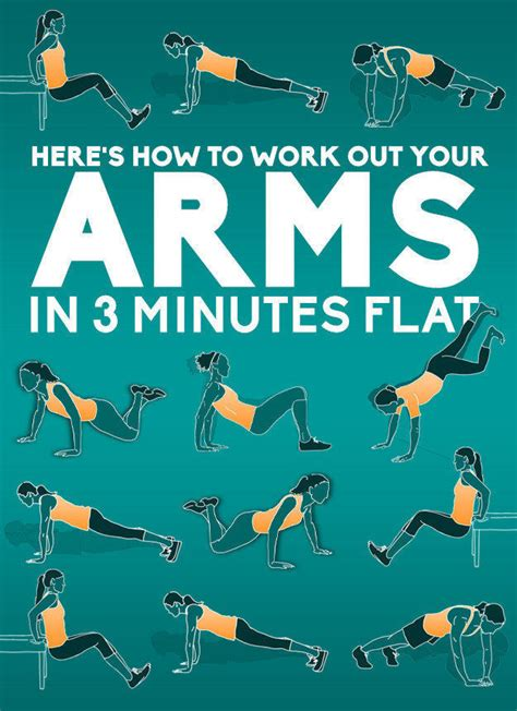 an easy three minute workout for your arms 4 pics