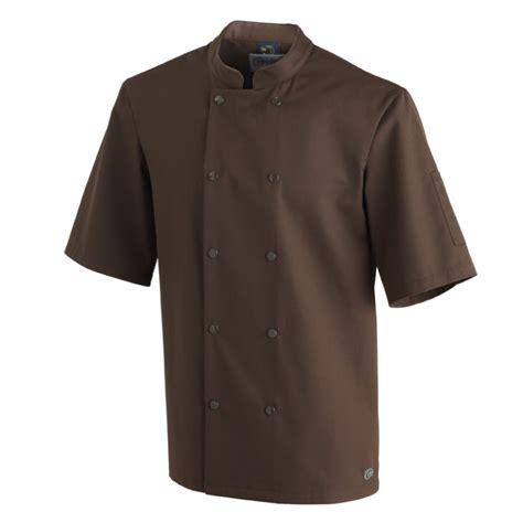 veste de cuisine molinel veste de cuisine molinel marron pour homme manches courtes polyester coton