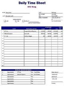 daily time sheet template free layout amp format