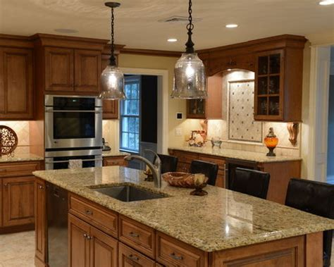 maple kitchen cabinets with granite countertops granite countertops maple cabinets houzz
