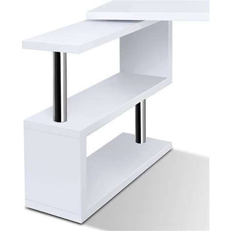 white desk with bookshelf office corner computer desk with bookshelf in white buy