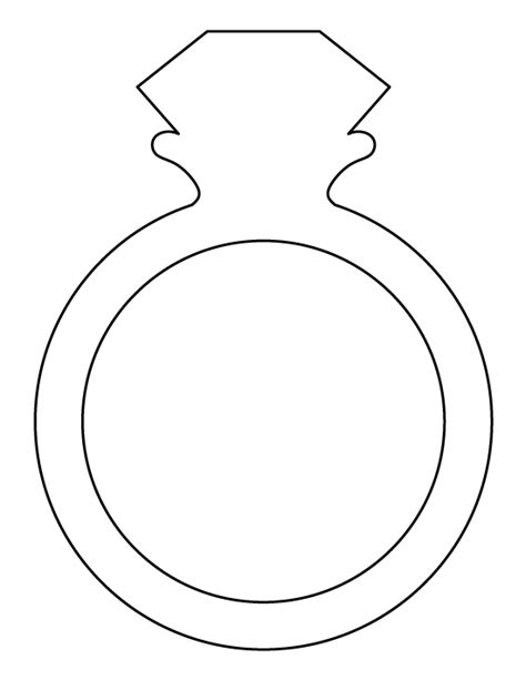 wedding ring template ring pattern use the printable outline for crafts