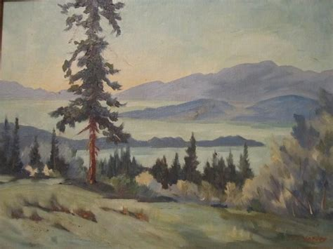 R S Painting by Painting By Canadian Artist R L Harvey Reginald