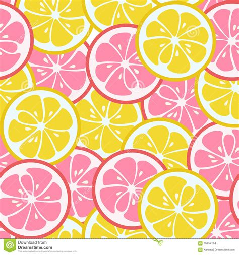pattern yellow pink seamless pattern with pink and yellow citrus stock vector