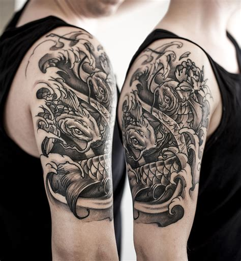 japanese half sleeve tattoos for men japanese half sleeve koi majlo st croatia