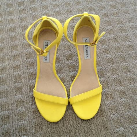 41 steve madden shoes steve madden realove strappy sandal heels yellow from savanna s