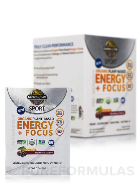 Garden Of Sport Energy And Focus Sport Organic Plant Based Energy Focus Sugar Free