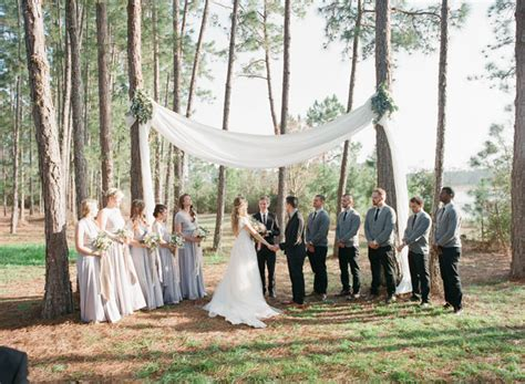 Wedding Arch Between Trees by Vintage Florida C Wedding On Green Wedding Shoes Wish