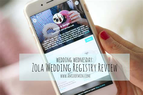 Zola Wedding Registry Reviews by Wedding Wednesday Zola Registry Review A Mix Of Min
