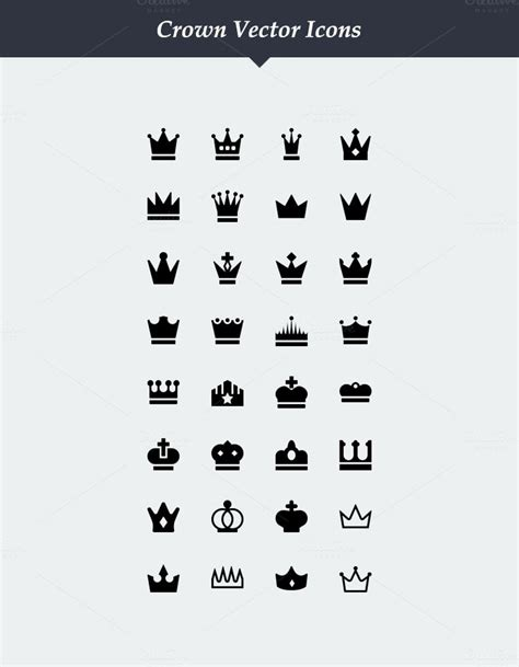 small crown tattoo designs 32 vector crown icons by dreamstale on creative market