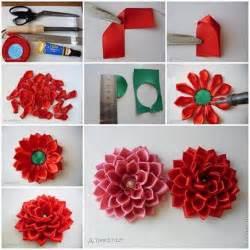 How To Make Flowers Out Of Paper Ribbon - diy flores de tela de satin decoraci 243 n de interiores