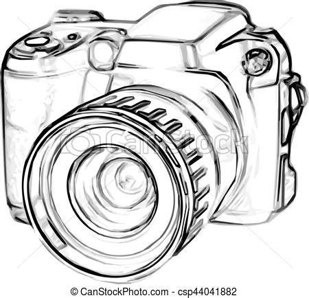 drawing digital camera. drawing old digital photo camera