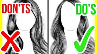 do s amp don ts how to draw realistic hair step by step