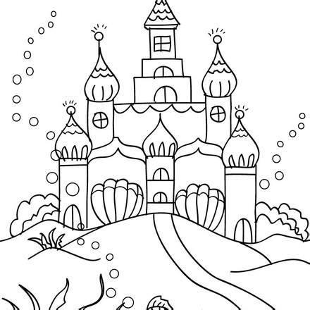 little mermaid castle coloring page mermaid coloring page img 811624 gianfreda net