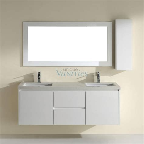 High Bathroom Vanities 63 Inch Bathroom Vanity With Choice Of Top In High Gloss White Uvabbahw63