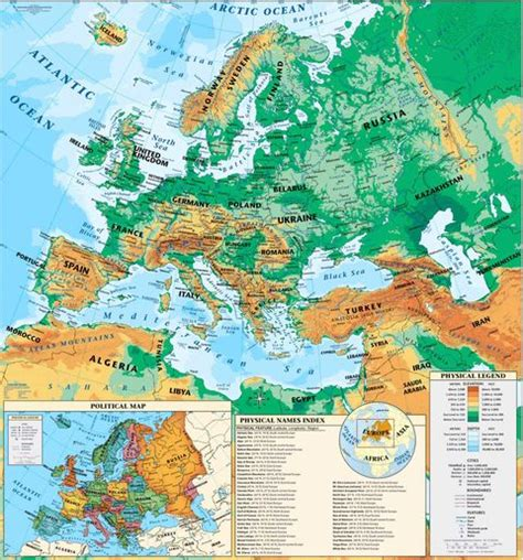 physical map europe europe europe physical map
