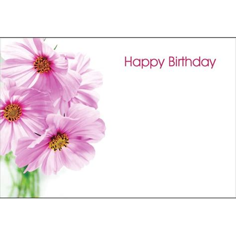 Flowers With Gift Card - oasis happy birthday pink flowers gift card x 50 163 0 99 inspirations wholesale
