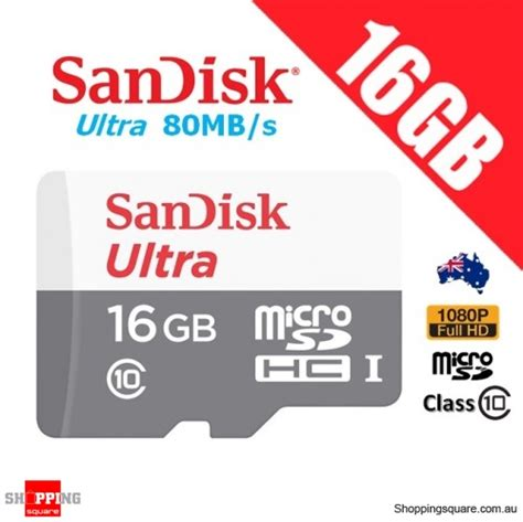 Sandisk Ultra Micro Sd 16gb 80mb sandisk ultra 16gb micro sd microsdhc memory card uhs i 80mb s hd shopping