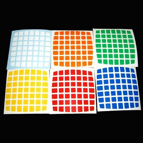 Aufkleber Cube by V Cube 7x7 Stickers Standard Set Cube Replacement