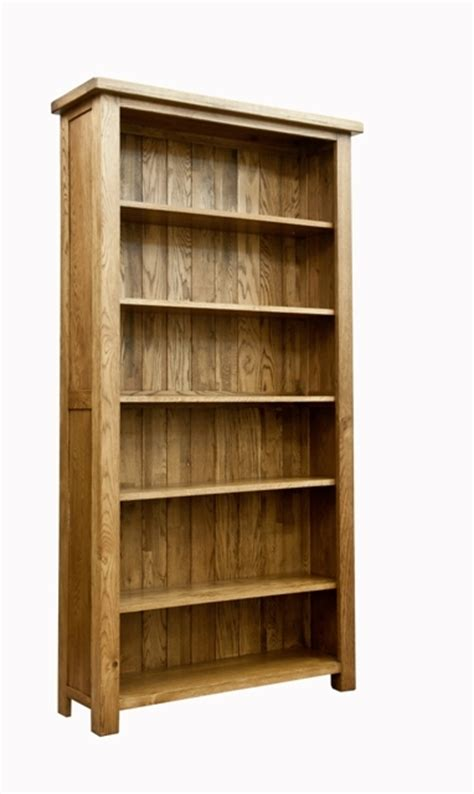 woodbury solid oak large bookcase oak furniture solutions