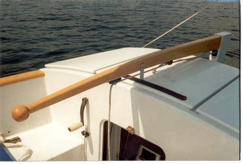 how do i made a tiller comb or tiller lock for a smaller - Sailboat Tiller
