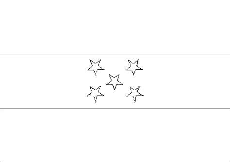 La Bandera De Honduras Para Colorear | dibujos para imprimir y colorear bandera para colorear de
