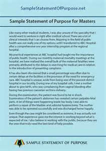 Statement Of Purpose Sle Essays by College Marcobaumgartl Info