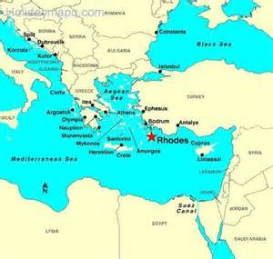 Rhodes Greece Map by Rhodes Greece Map