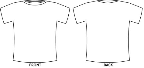 Shirt Template Back white t shirt template back and front studio design
