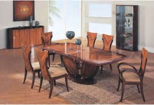 Contemporary Dining Table Sets by Elegant Wooden Fabric Seats Modern Furniture Table Set