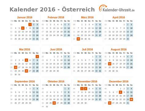 Ferien 2018 österreich Feiertage 2016 214 Sterreich Kalender 220 Bersicht