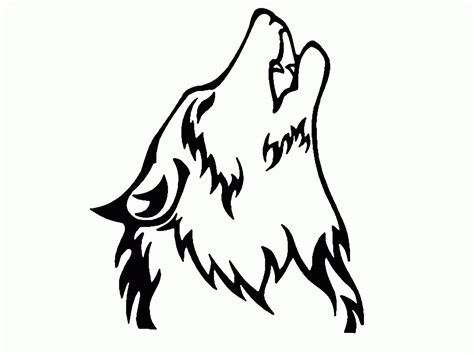 coloring page wolf head wolf face outline coloring home