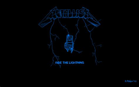 the lighting metallica ride the lightning wallpaper