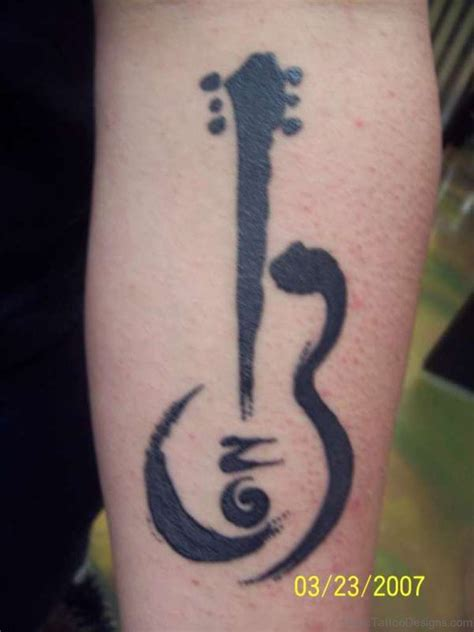 beautiful design tattoos 40 guitar tattoos for wrist