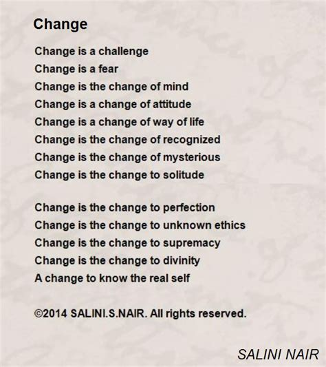 caricatures of my mind simple poems in a complicated world books change poem by salini nair poem