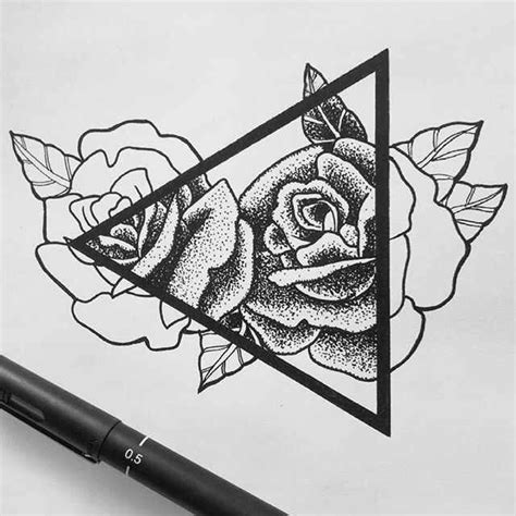 pen tattoos design tattoo ideas ink and rose tattoos collection of 25 pen ink roses triangle tattoo design