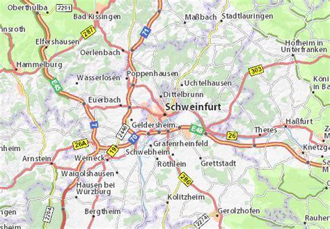 Germany Address Search Map Of Schweinfurt Michelin Schweinfurt Map Viamichelin