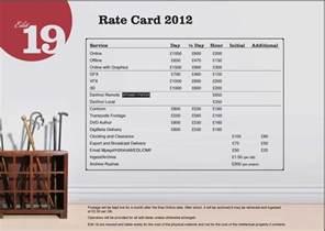 rate card template digitopia