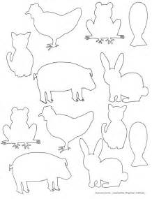 Animal Silhouettes Templates by Animal Shapes To Cut Out Coloring Home