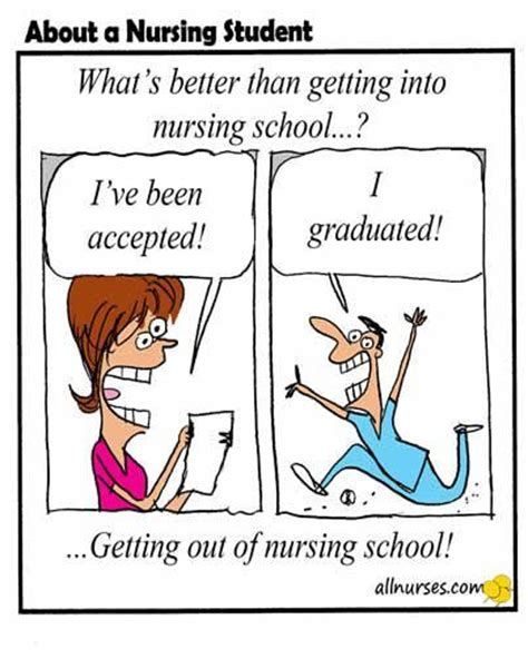 Nursing School Joke - how i never thought i would be more excited the day