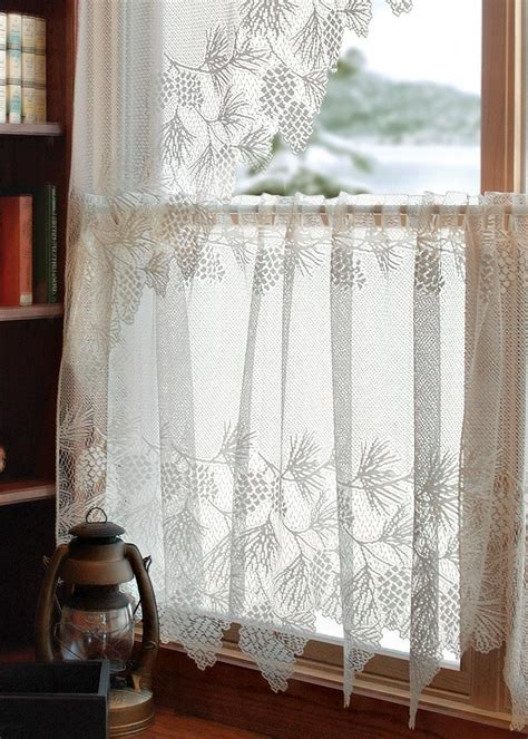 pauls curtains heritage lace woodland lace tier curtain paul s home fashions