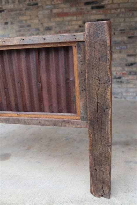 barn wood headboard queen headboard reclaimed barn wood and rusty metal