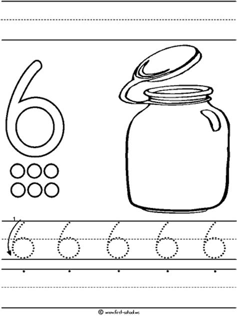 printable tracing number 6 number 6 worksheets for kindergarten free preschool