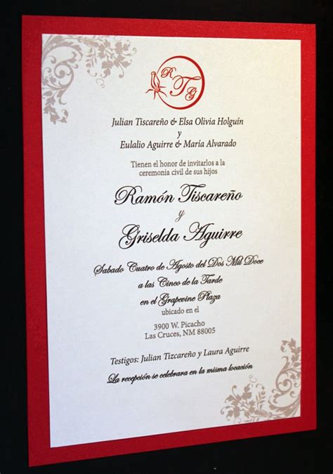 the radiant red invitation spanish by thefunkyolive on