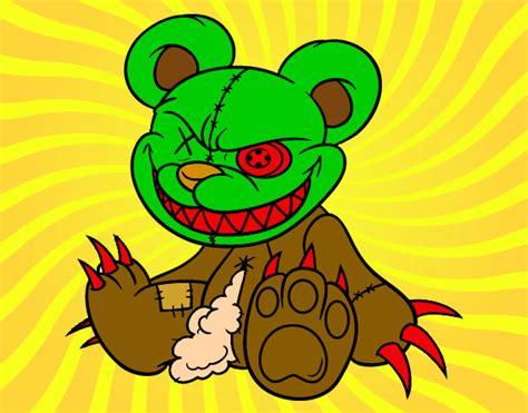 imagenes de calaveras ya coloreadas dibujo de el oso muerto pintado por samueligno en dibujos