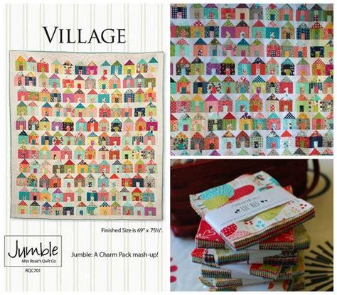 quilt pattern village pat sloan sew along of little village charm pack buster
